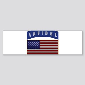 American Infidel Patch Sticker (Bumper)