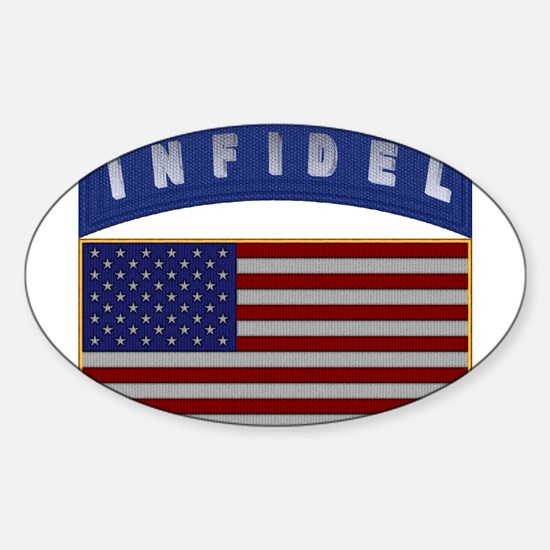 American Infidel Patch Sticker (Oval)