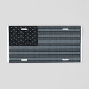 US Flag Urban Patch Aluminum License Plate