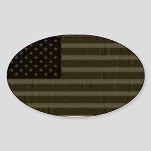 US Flag OD Patch Sticker (Oval)