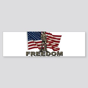 FREEDOM NOT FREE Sticker (Bumper)
