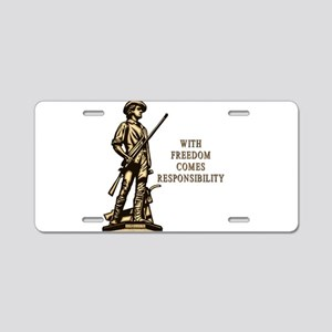 With Freedom(MM) Aluminum License Plate