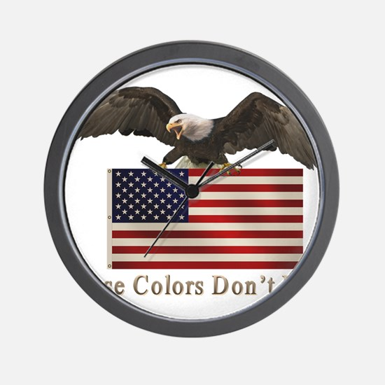 These Colors Don't Run Wall Clock
