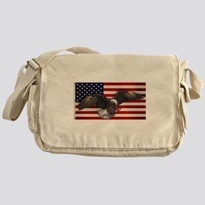 American Flag w/Eagle Messenger Bag