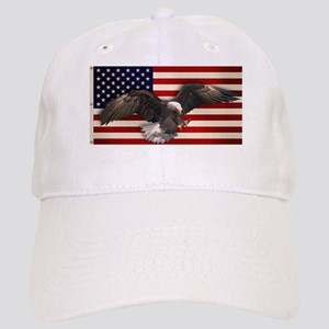 American Flag w/Eagle Cap