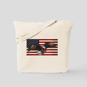 American Flag w/Eagle Tote Bag
