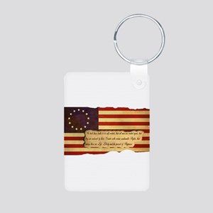Old Glory Aluminum Photo Keychain