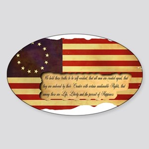 Old Glory Sticker (Oval)