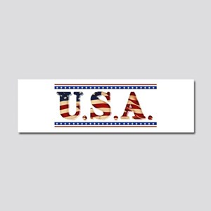 USA Stars/Strips Car Magnet 10 x 3