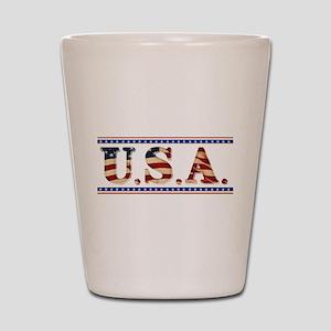 USA Stars/Strips Shot Glass