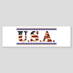 USA Stars/Strips Sticker (Bumper)
