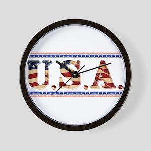 USA Stars/Strips Wall Clock