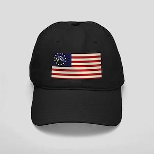 1776 Flag Black Cap