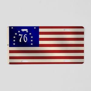 Bennington 1776 Flag Aluminum License Plate