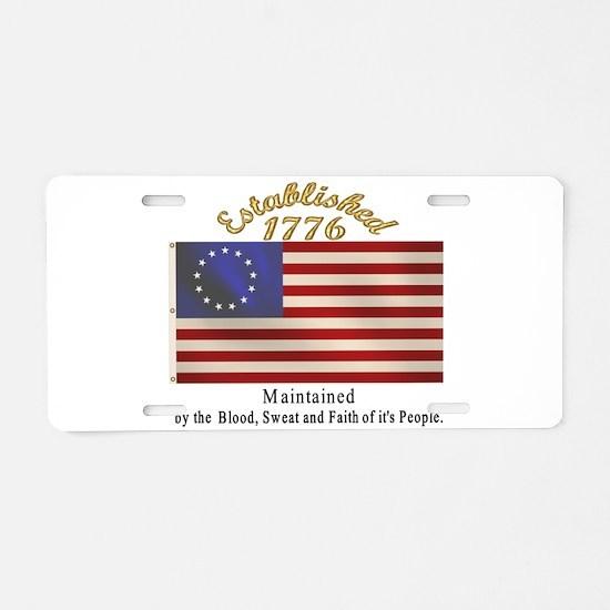 Est. 1776 Aluminum License Plate