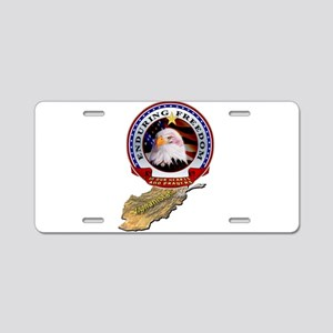 Enduring Freedom Aluminum License Plate