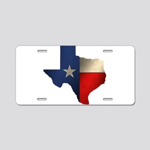 State of Texas Aluminum License Plate