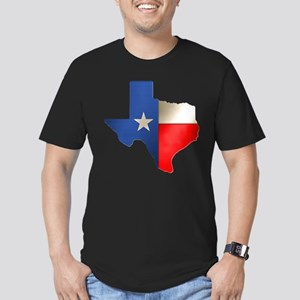 State of Texas Men's Fitted T-Shirt (dark)