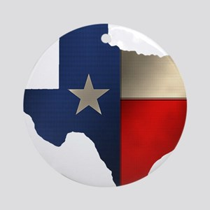 State of Texas Ornament (Round)
