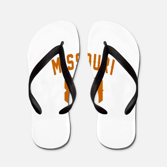 Missouri 80 Birthday Designs Flip Flops