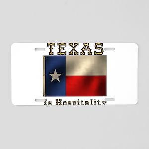 Texas Hospitality Aluminum License Plate