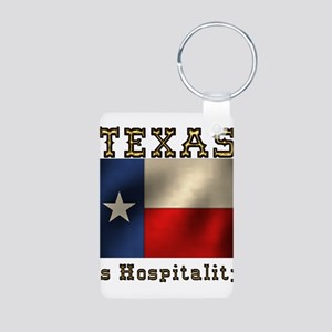 Texas Hospitality Aluminum Photo Keychain