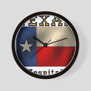Texas Hospitality Wall Clock