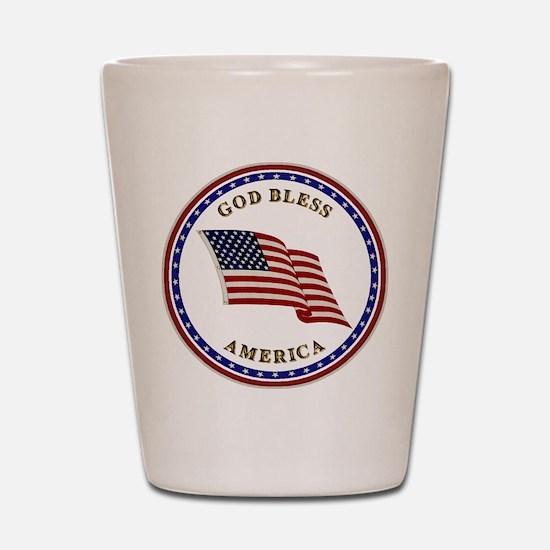 God Bless America Shot Glass