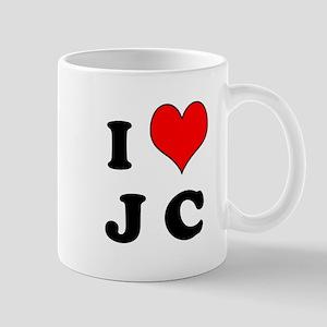 I Heart J C Mug