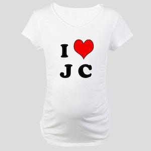 I Heart J C Maternity T-Shirt