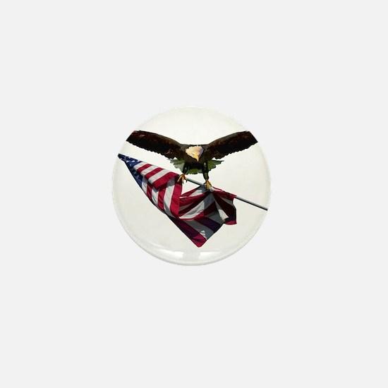 Eagle & Flag Mini Button