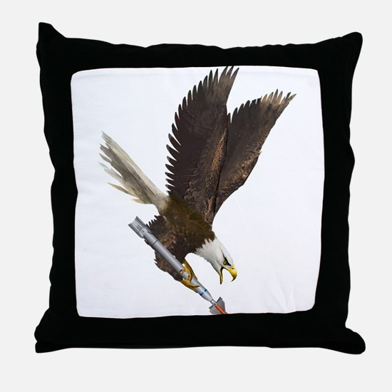 Cool Fighting eagle Throw Pillow