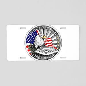 9/11 Memorial Aluminum License Plate