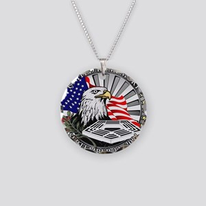 9/11 Memorial Necklace Circle Charm