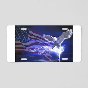 Eagle Storm Aluminum License Plate