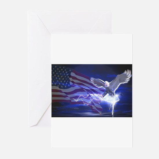Eagle Storm Greeting Cards (Pk of 20)