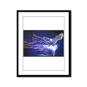 Eagle Storm Framed Panel Print