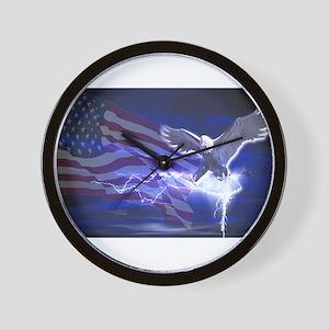 Eagle Storm Wall Clock