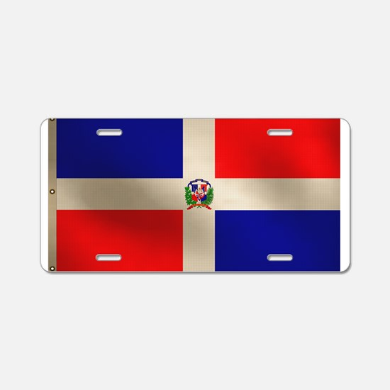 Dominican Flag Aluminum License Plate