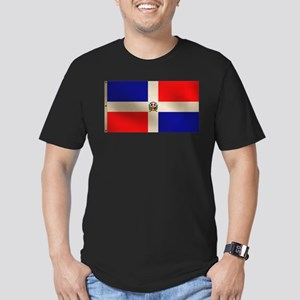 Dominican Flag Men's Fitted T-Shirt (dark)