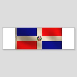 Dominican Flag Sticker (Bumper)
