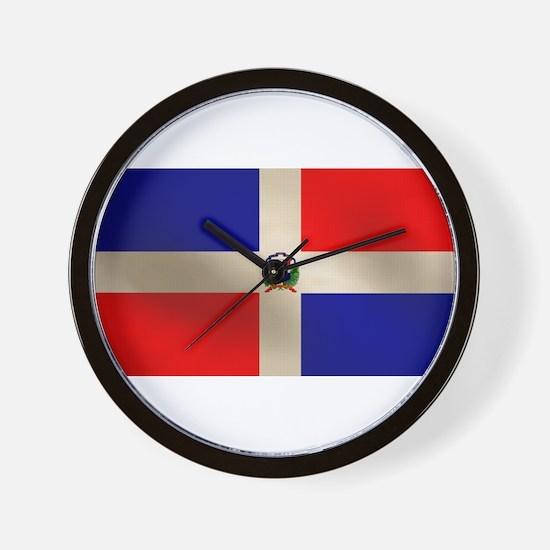 Dominican Flag Wall Clock