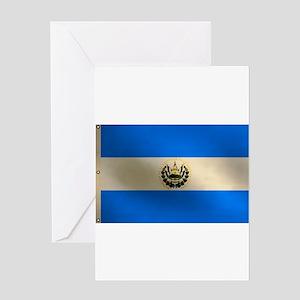 Salvadoran flag Greeting Card