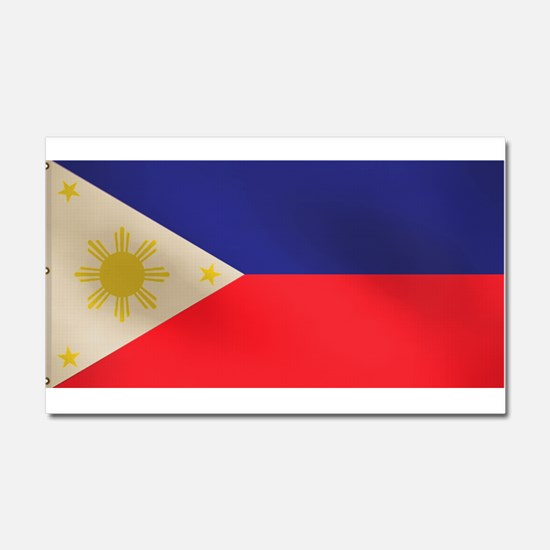 Philippine Flag Car Magnet 20 x 12