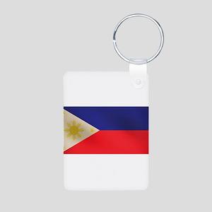 Philippine Flag Aluminum Photo Keychain