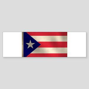 Puerto Rican Flag Sticker (Bumper)