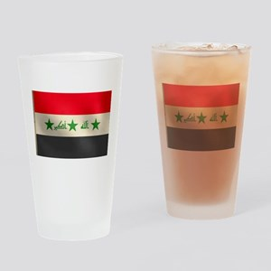 Iraqi Flag Drinking Glass