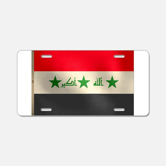 Iraqi Flag Aluminum License Plate