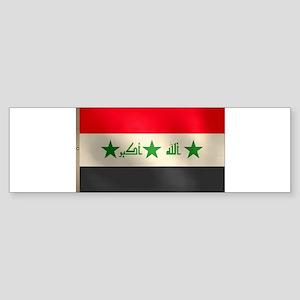 Iraqi Flag Sticker (Bumper)