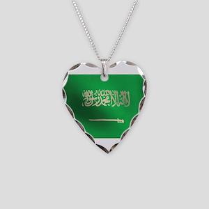 Flag of Saudi Arabia Necklace Heart Charm